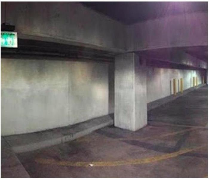 Parking Deck Smoke/Soot Damage Before