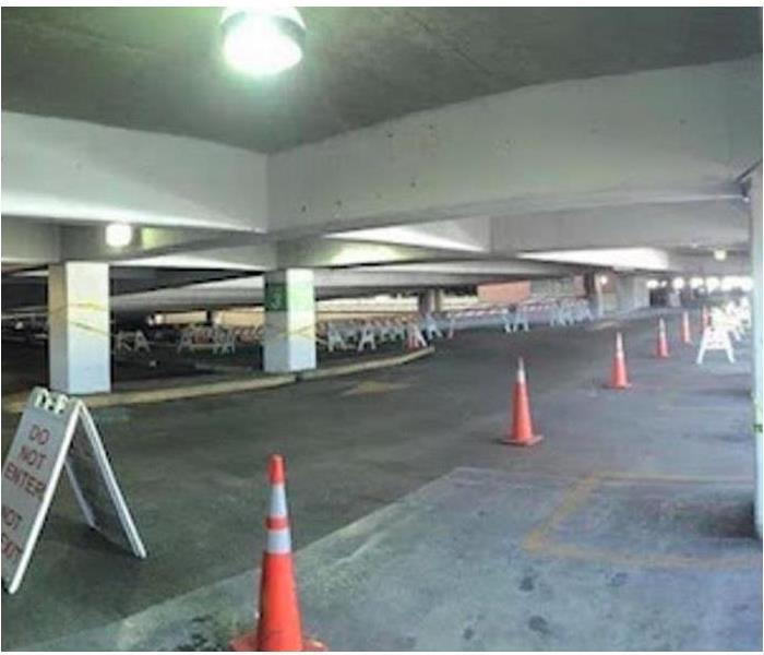 Parking Deck Smoke/Soot Damage After